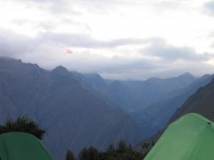 Campsite, day 1.
