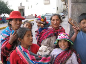 Women and children (and a sheep), Cusco.