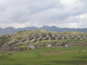 Sacsayhuaman ruins, at distance.