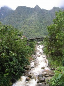A bridge over the Urubamba in Aguas Calientes.