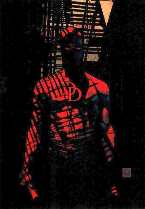 Daredevil's red costume.